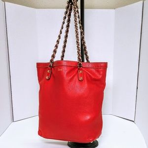 Gucci Red Tote Leather